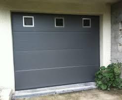 porte de garage basculante gris anthracite voiture auto garage