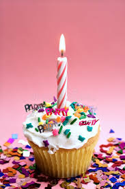 Download Pink Cupcake and Candle stock photo Image of celebration