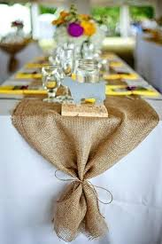 Ideas For Burlap And Lace Wedding Rustic Table Runners