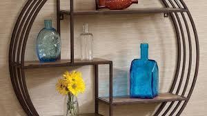 Marvellous Design Decorative Metal Wall Shelves Also Rustic 2 Tier Shelving Look