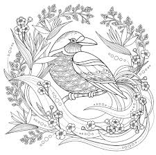 Simple Birds Coloring Page For Kids