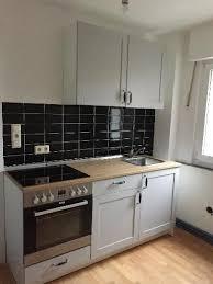 knoxhult ikea küchenzeile in grau inklusive einbauherd ofen
