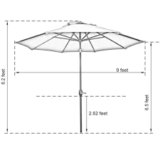 9 Ft Patio Umbrella With Crank by Patio Umbrella Picture More Detailed Picture About Abba Patio 9