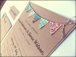 Rustic Wedding Invitation Unique Kraft Card With