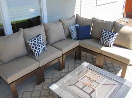 Outdoor Deep Seating Sectional Sofa by Ana White Outdoor Sectional Diy Projects