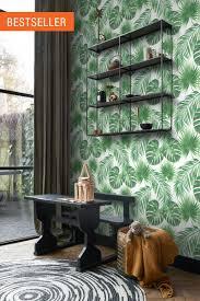 tapete tropische blätter grün esta home