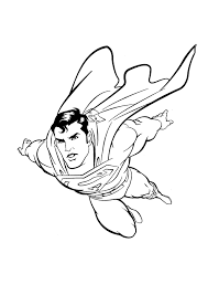 Image Of Superman Flying Coloring Pages