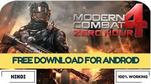 how to install modern combat 4 zero hour for free on