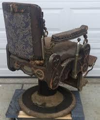 Koken Barber Chair Antique by Rare Antique Oak Congress Style Koken Barber Shop Chair 1901