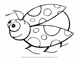 Ladybug Coloring Pages For Toddlers