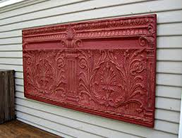 antique architectural salvage wall tin ceiling tile 4 x 2
