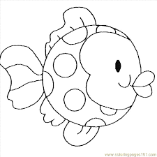 Childrens Fish Coloring Page