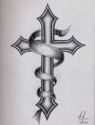 Cross Tattoo Sketch