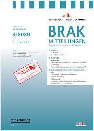 Brak Mitteilungen Heft 3 2020 Der Brak Mitteilungen