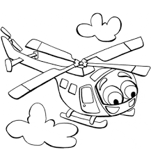 Printable Helicopter Coloring Pages Color Transportation Sheets