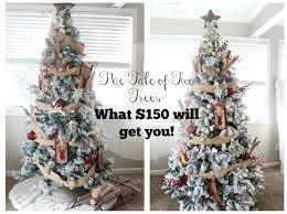 Flocked Christmas Tree Walmart by November 2016 The Glam Farmhouse