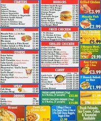 Menu at Lahore Grilled Chicken & Pizza restaurant Birmingham