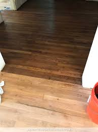 Applying Water Based Polyurethane To Hardwood Floors by Adventures In Staining My Red Oak Hardwood Floors Products U0026 Process