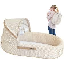 LulyBoo Baby Lounge To Go Travel Bed Beige Walmart