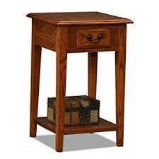 amazon com leick shaker square end table medium oak kitchen
