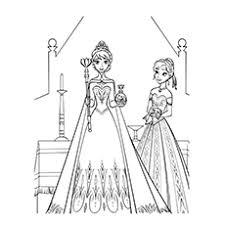 50 Beautiful Frozen Coloring Pages For Your Little Princess Elsa Ice Castle