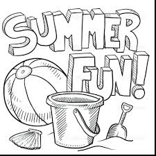 Coloring Pages Summer Holidays Clothes Printable Brilliant Adults Fun Beach Large Size