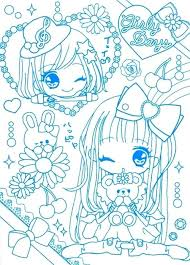 Kawaii Girl Colouring Pages Coloring Sheets Adult Books
