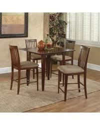 Atlantic Furniture Montreal 5 Piece Counter Height Dining Table Set Cappuccino