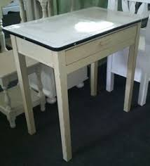 Old Enamel Top Kitchen Table With Drawer GBP95
