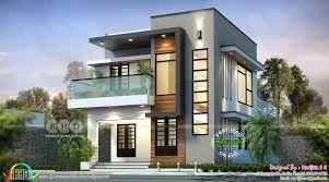 100 Home Contemporary Design Small Double Storied 1624 Sqft Home Contemporary Style Kerala