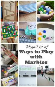MEGA List Of Ways To Play With Marbles