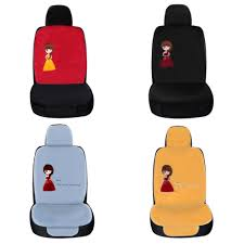 Hot Sale Dewtreetali Promotion 1pc Front Car Seat Cover Pretty Girl ...