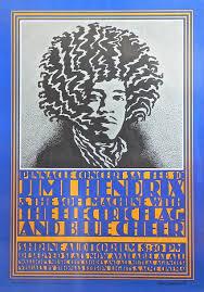 Jimi Hendrix Shrine Auditorium 1968 Concert Poster