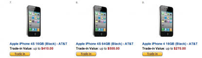 Looking to sell Amazon offers top dollar for iPhone trade ins