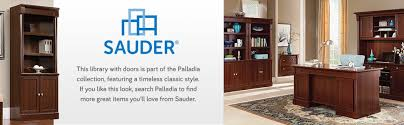 Sauder L Shaped Desk Instructions by Amazon Com Sauder Palladia Library With Doors Select Cherry