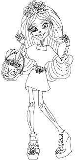 Free Printable Monster High Coloring Page For Skelita Calaveras In Her I Love Accessories Outfit