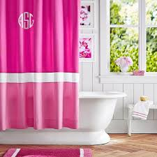 Sweet Jojo Chevron Curtains by Wonderful Pink Shower Curtains And Pink And Grey Shower Curtain