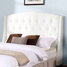 White Velvet King Headboard by Bedroom Quilted Headboard White Tufted Headboard Walmart