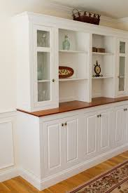 Astounding White Dining Room Storage Furniture Featuring Light Brown Wooden Top Board Plus Hutch With Glass Door Cabinets And Open Shelves