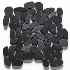 Sliced Pebble Tiles Uk by Black Pebble Mosaic Stonetrader Co Uk