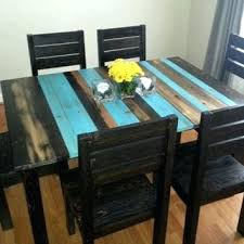 Teal Dining Room Exquisite Ideas Table Super Cool Rustic