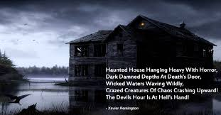 Poems About Halloween by The Devil U0027s Hour Haunted House Poem