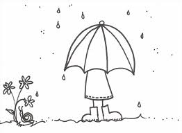 Coloring Page Duck In The Free Printable Pages Rain At
