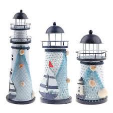 details zu schöne nautische leuchturm kerzenständer tischdeko für wohnzimmer