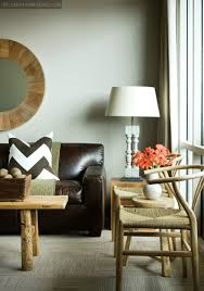 Living Rooms With Brown Couches by Smooth Dark Brown Leather Couch Blond Wood Table And Chairs