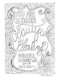 Attractive Design Christian Coloring Books Pages With Quotes