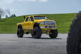 100 Ford Monster Truck Insane Yellow F250 Super Duty On Huge Wheels
