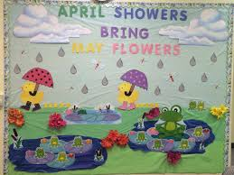 Sunday School Wall Decorations Showers Brings May Flowers Decor Classroom Decoration Idea Frogs Ducks