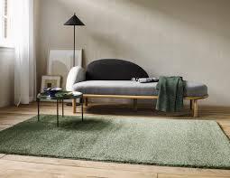 kurzflor designer teppich esprit california esp 22937 041 salbei grün