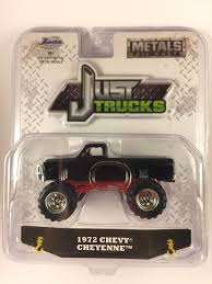 JADA TOYS JUST Trucks '72 1972 Chevy Cheyenne Black Chevrolet ...